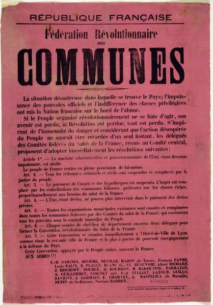 Affiche_première_Commune_de_Lyon_Archives_municipales_de_Lyon